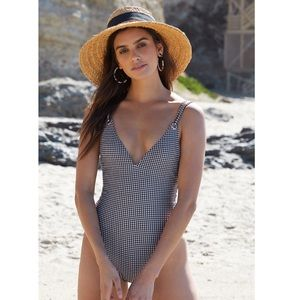 LA Hearts Gingham One Piece Swimsuit